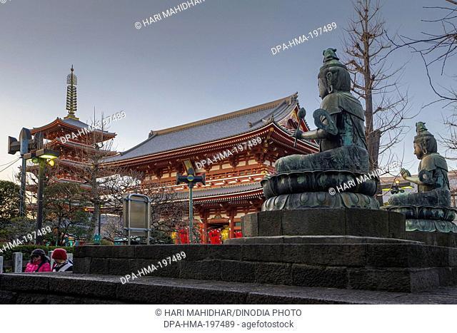 Asakusa sensoji temple, tokyo, japan