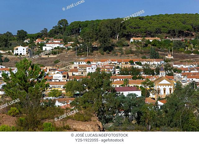 Panoramic view, La Zarza, Huelva-province, Huelva, Spain