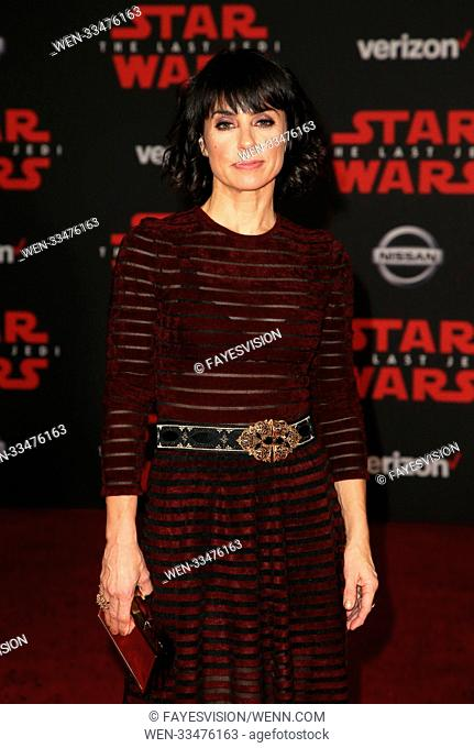 Premiere of Disney Pictures and Lucasfilm's 'Star Wars: The Last Jedi' at The Shrine Auditorium in Los Angeles, California