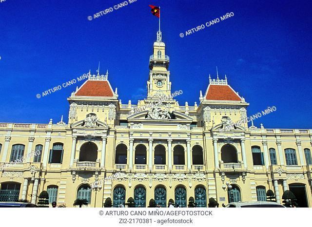 City Hall 1902-08. Ho Chi Minh City, formerly named Saigon, Vietnam