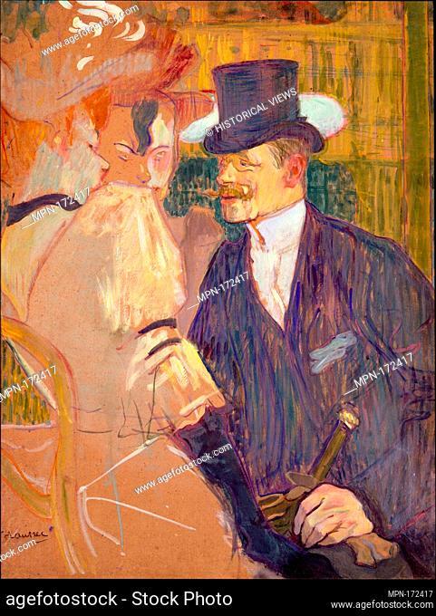 The Englishman (William Tom Warrener, 1861-1934) at the Moulin Rouge. Artist: Henri de Toulouse-Lautrec (French, Albi 1864-1901 Saint-André-du-Bois); Date:...
