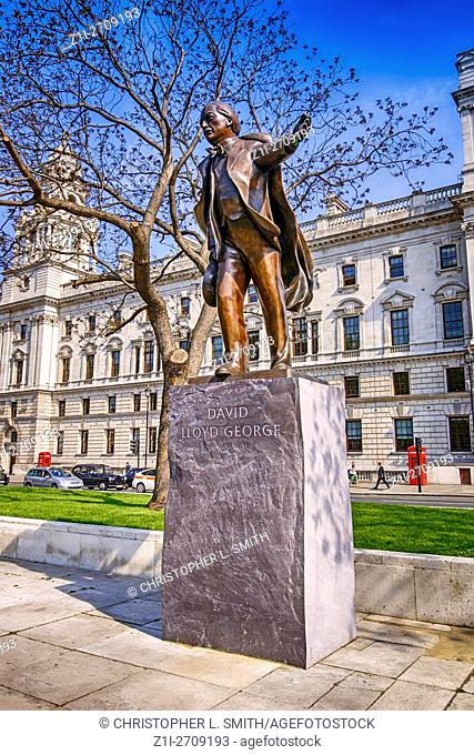 Statue of David lloyd George in Parliment Sqaure, Westminster, London