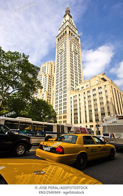 Metropolitan Life Insurance Company Tower, colloquially known as the Met Life, Madison Square, Midtown, Manhattan, New York City, New York, USA