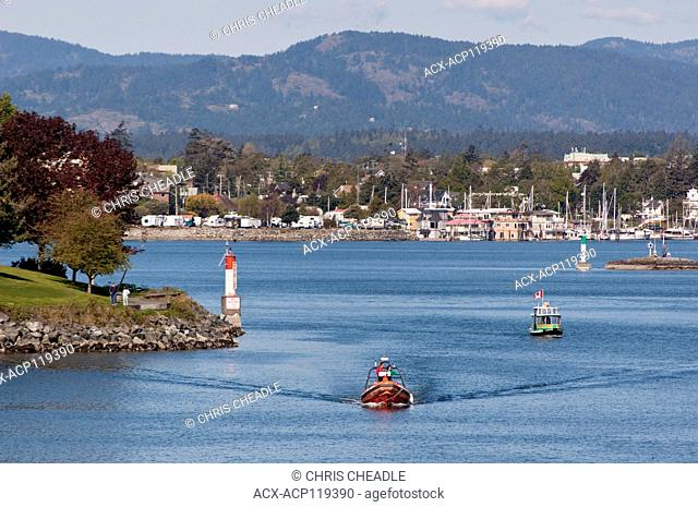 Inner Harbour with West Bay Marina in distance, Victoria, British Columbia, Canada