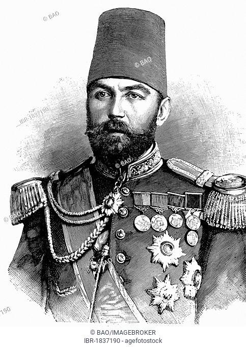 Ahmed Cevat Pasha 1850 - 1900, Turkish grand vizier, governor of Crete and Damascus, historical illustration circa 1893