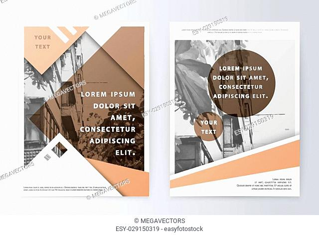 Business brochure. Brochure Flyer design. Brochure Layout template. Easy to use and edit. Presentation Cover layout in A4 size. Cover design