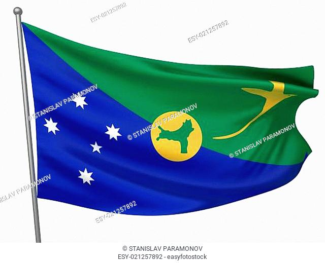 Christmas Island National Flag  - All Countries Collection - Isolated Image