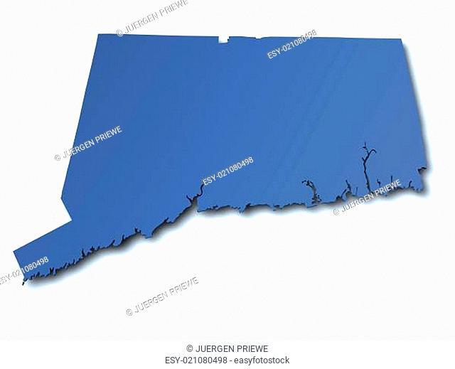 Karte von Connecticut - USA