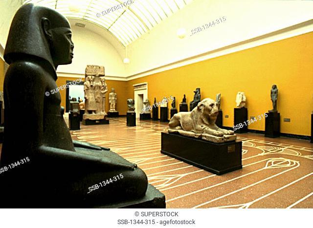 Statues in a museum, Ny Carlsberg Glyptotek, Copenhagen, Denmark