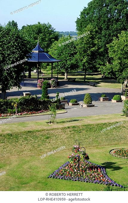 England, Essex, Colchester, Landscaped gardens in Castle Park, an area in the centre of Colchester containing a children's play area