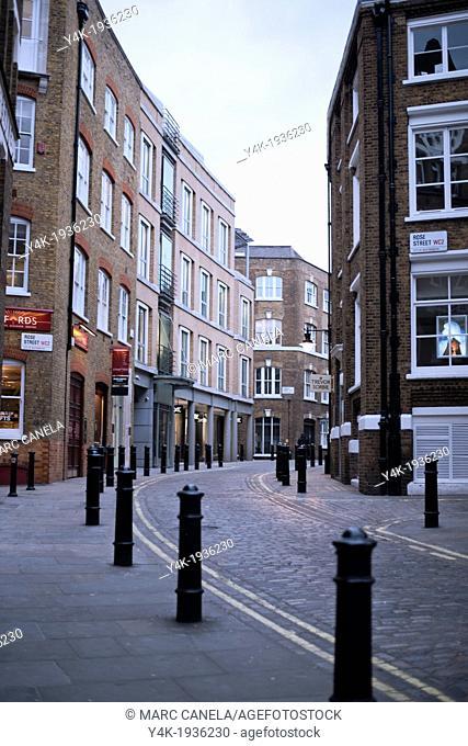 Europe, England, London near Coven Garden, Rose Street