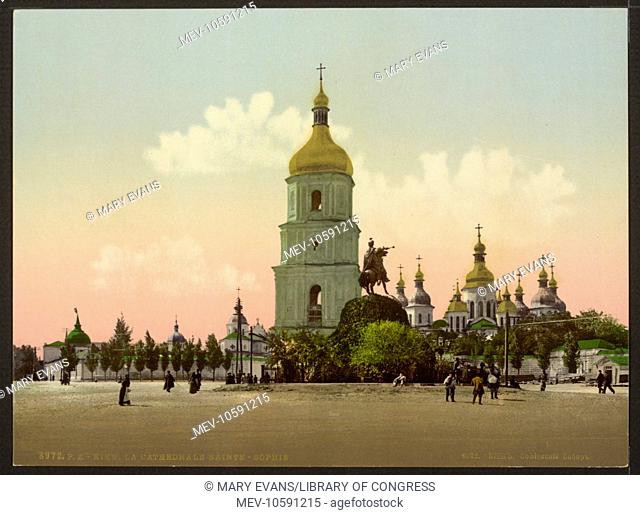 St. Sophia Cathedral, Kiev, Russia, (i.e., Ukraine). Date between ca. 1890 and ca. 1900