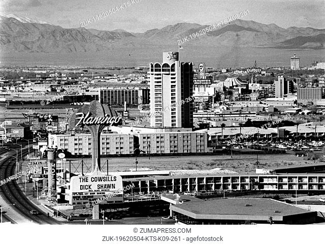 May 4, 1962 - Las Vegas, NV, U.S. - Las Vegas is often called the most dazzingly-lit few blocks in the world, famed Fremont Street in downtown Las Vegas is a...