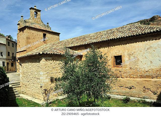 The Our Lady of Visitation church, XVIIIth century. Somaén town, Soria province, Spain