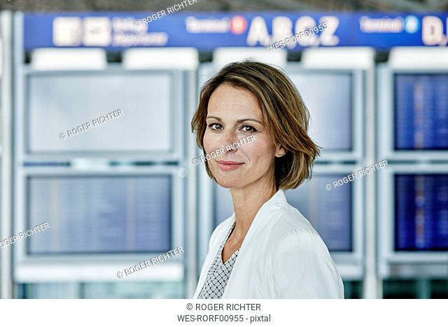 Portrait of confident businesswoman at the airport