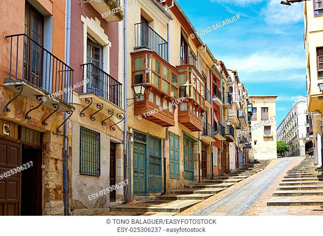 Zamora street Balboraz in Spain by the via de la Plata way to Santiago