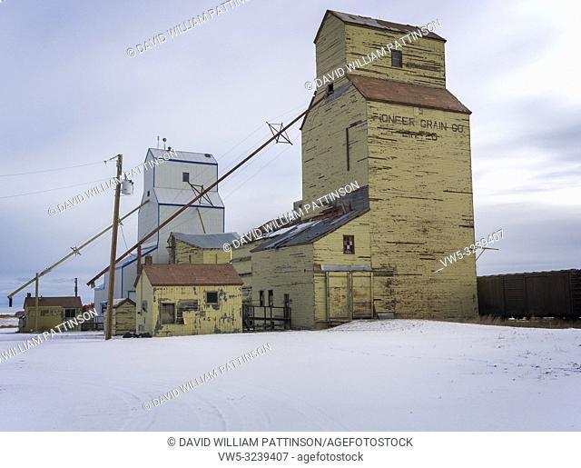 Mossleigh Grain elevators Alberta Canada