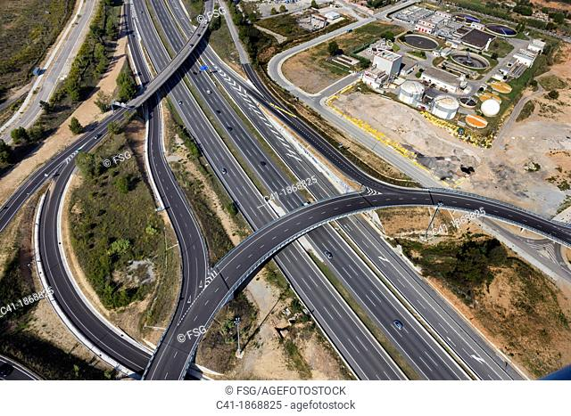 Highway junction  Sabadell  Spain