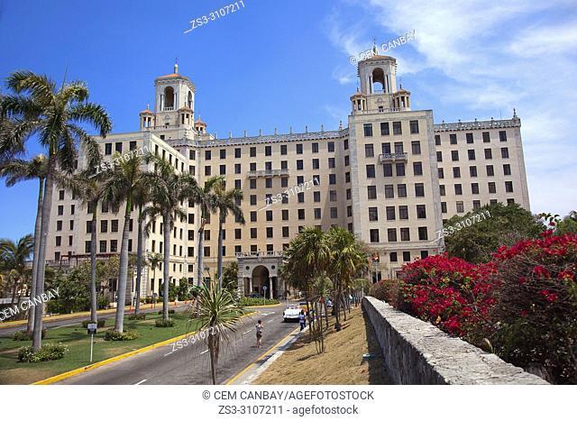 View to the Hotel Nacional in Vedado district, Havana, La Habana, Cuba, West Indies, Central America
