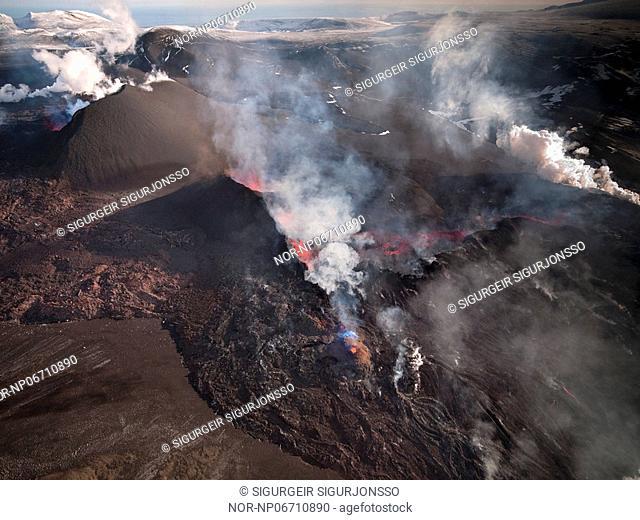 Volcanic eruption in South Iceland, image shot 28. Mars 2010