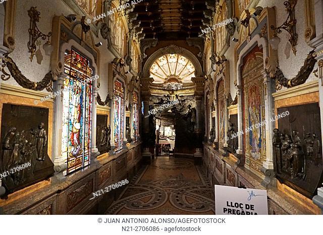 The cave of Sant Ignaci. Manresa, province of Barcelona, Catalonia, Spain, Europe