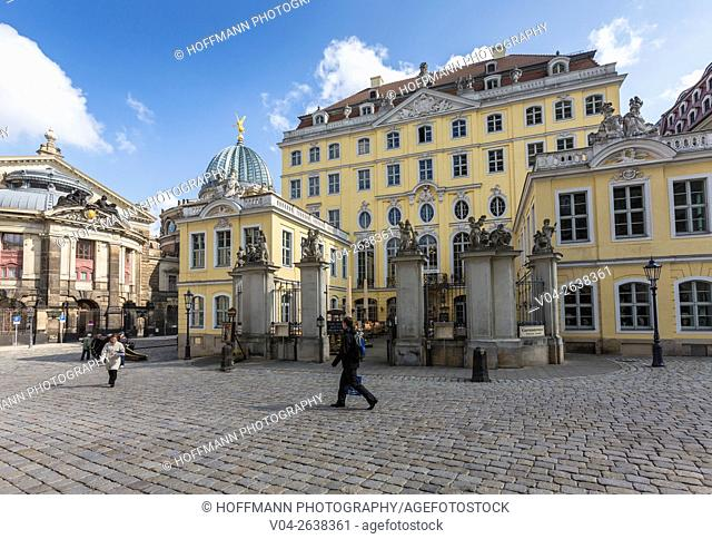 Picturesque Cosel Palace in Dresden, Saxony, Germany, Europe