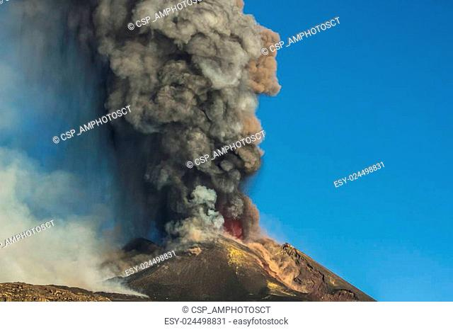 Volcano Etna Eruption