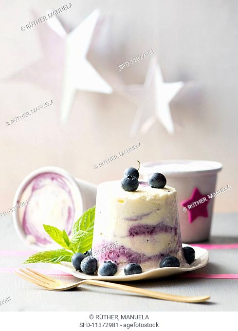 Blueberry ripple ice cream for Christmas