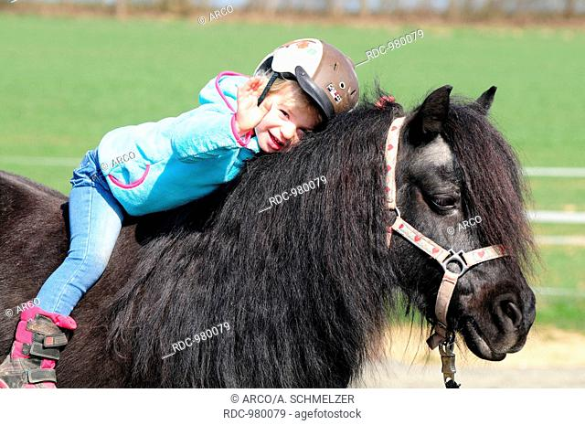 Small Child with Shetland Pony
