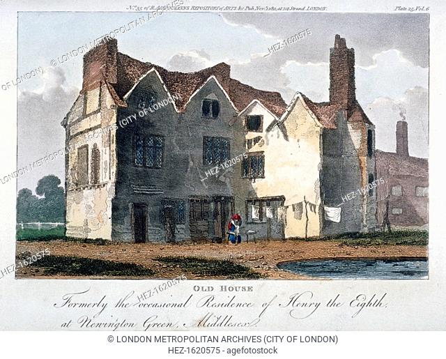 Old house, formerly the occasional residence of Henry VIII at Newington Green, London, 1811