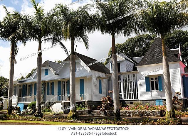 Mauritius, Bois Cheri, the historic mansion Domaine des Aubineaux built in 1872 by family Guimbeau, tea planters