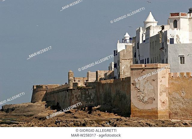 africa, morocco, essaouira, portuguese fortifications and medina