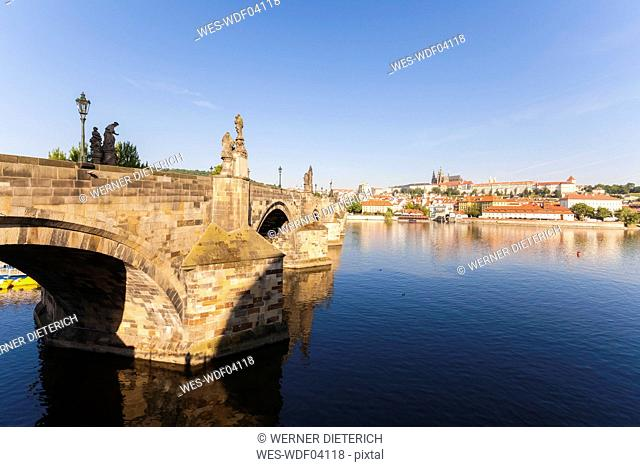 Czech Republic, Prague, Hradcany, Vltlava, Charles Bridge