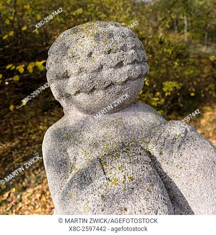 Place of discovery of the Venus von Willendorf (Woman of Willendorf) and a replica commemorating the find. the Venus is considered to be one of the oldest...