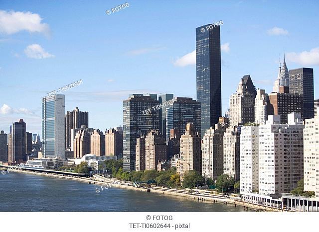 USA, New York State, New York City, City skyline