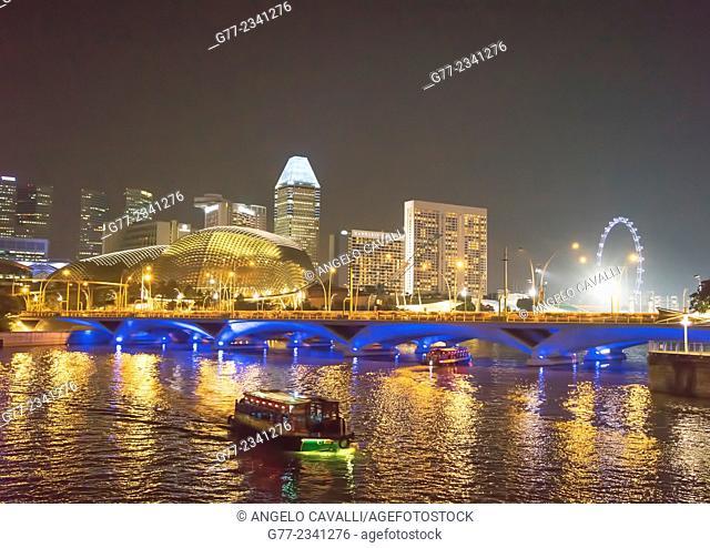 Singapore skyline at night, Singapore