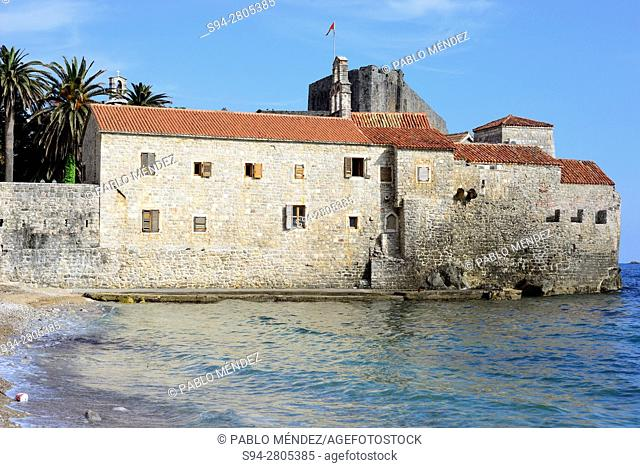 View of the walls of Budva, Montenegro