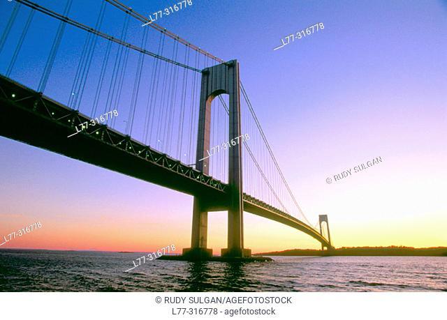 Verrazano-Narrows Bridge. New York City, USA