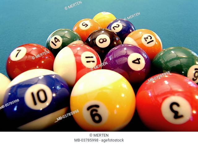 Billiard table, balls, entry level position   Billiard, game, billiard balls, balls, installation, beginning, game beginning, game beginning, skill, skill