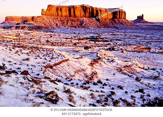Monument valley in winter. Utah . SouthWest. United States