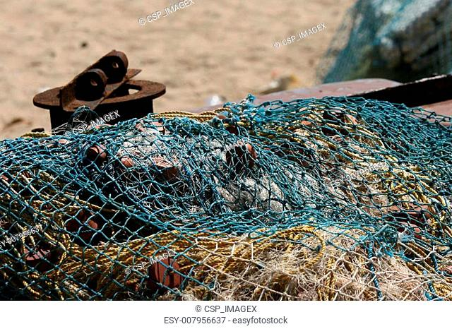 Fishing Net - Marina Beach, Chennai, India