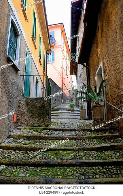 Stairway Varenna Lake Como Italy Lombardy IT EU Europe