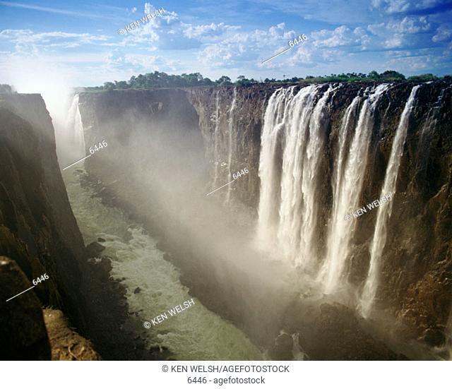 Victoria Falls, on border of Zimbabwe and Zambia