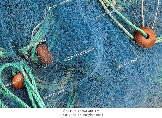 Fishing nets background