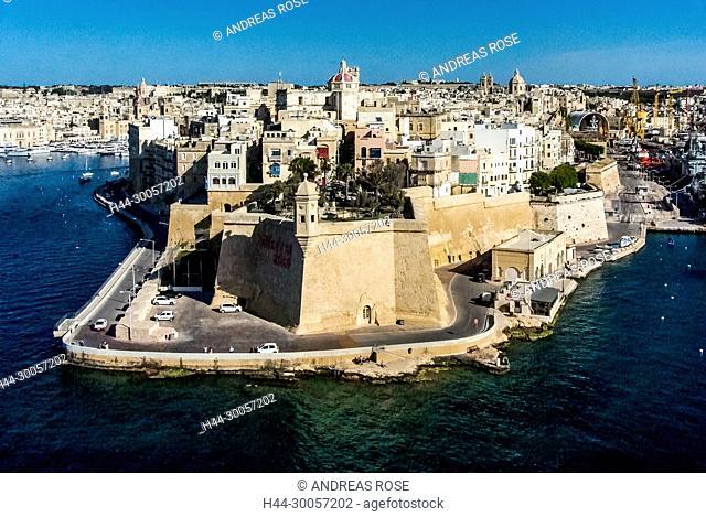 Fort Saint Angelo, Malta, Valletta, port