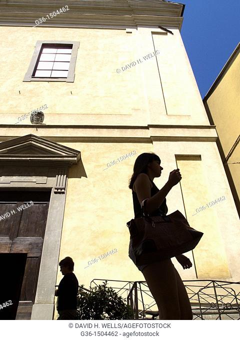 Street life in Rocca San Casciano, Emilia-Romagna, Italy
