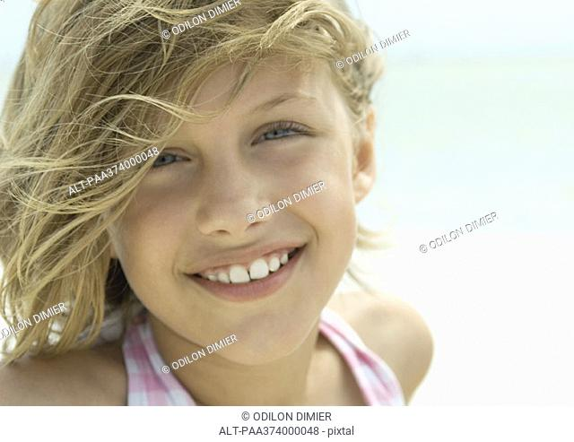Girl smiling, portrait
