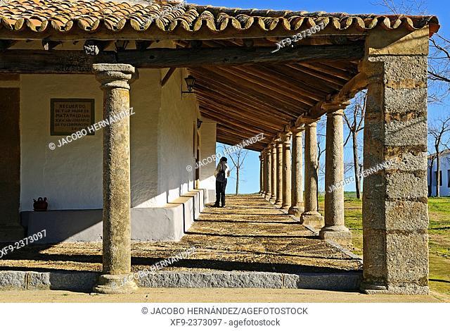 Piedraescrita Hermitage.Campanario.Badajoz province.Extremadura.Spain