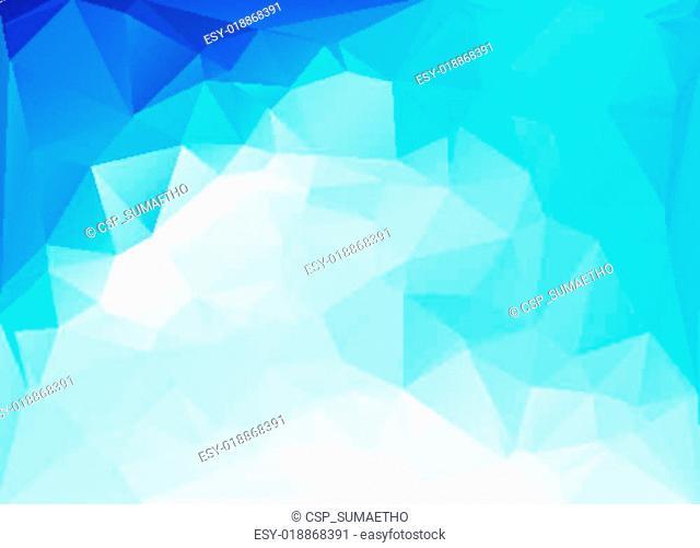 Blue White Polygonal Mosaic Background, Vector illustration, Creative Business Design Templates