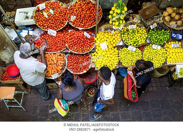 Produce at Central Market, Port Luis, Mauritius, Africa